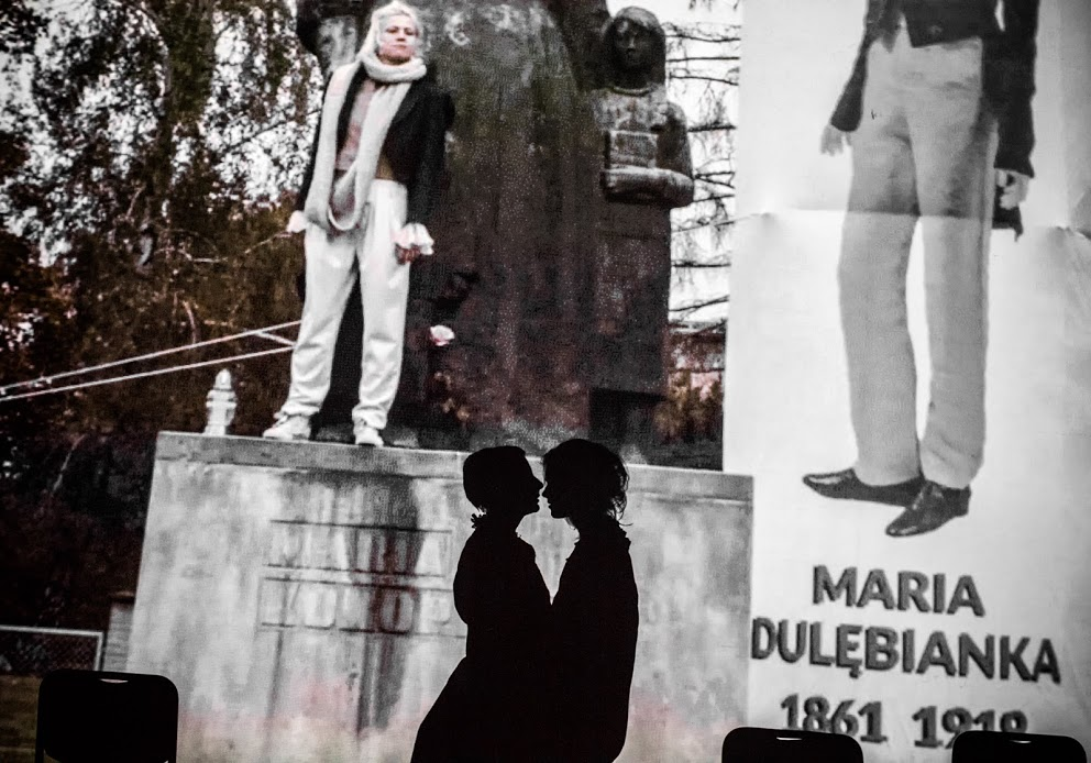 <i>O mężnym Pietrku i sierotce Marysi. Bajka dla dorosłych</i> [<i>Valiant Pete and Little Orphan Mary: A Fairy Tale for Grownups</i>], Jolanta Janiczak, dir. Wiktor Rubin, premiere: 27 October 2018, Polski Theatre in Poznań, photo: Magda Hueckel