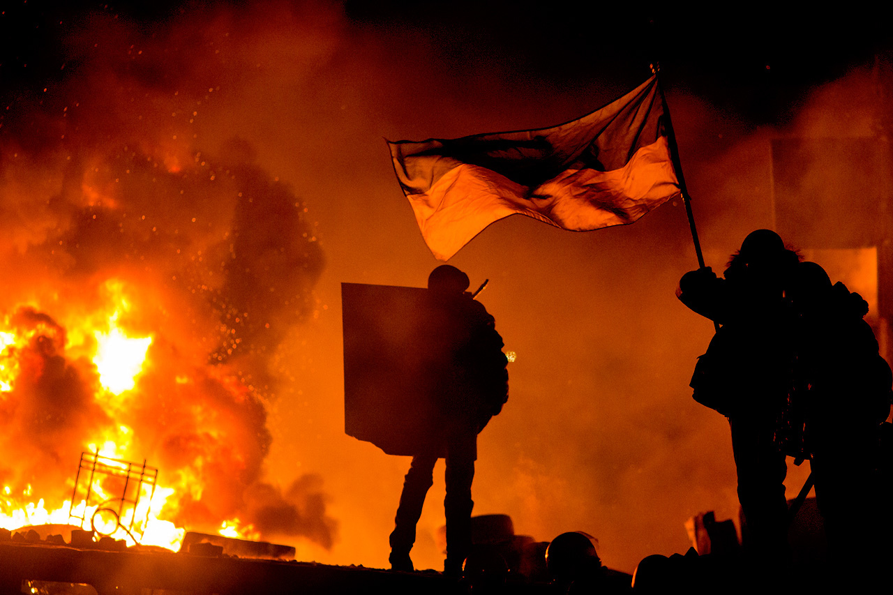Euromaidan, Kiev, Ukraine, 2014. Photographer: Thomas Rafa.