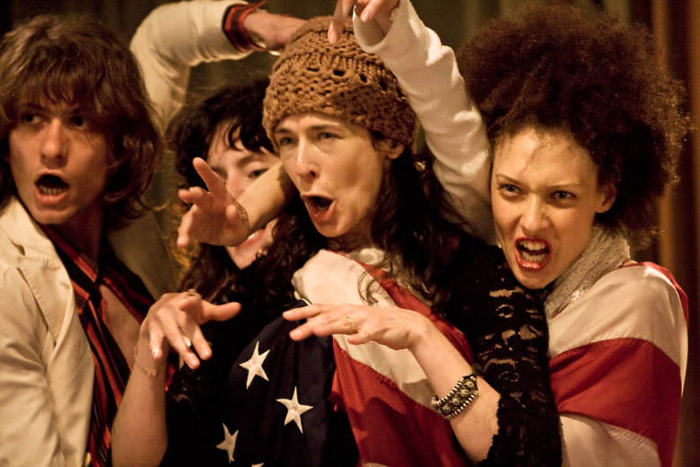 I Am America (2010): Davide Curzio, Julia Ulehla, Marina Gregory, Chrystèle Saint-Louis Augustin. Photographer: Francesco Fadda. Courtesy of the Workcenter of Jerzy Grotowski and Thomas Richards.