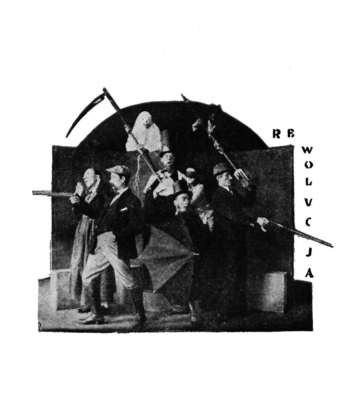 <i>A Play on Herod</i>, dir. Witold Wandurski, Łódzka Scena Robotnicza, premiere: 16 Feb. 1926. Reproduction from play's printed version. Source: Encyklopedia Teatru Polskiego.