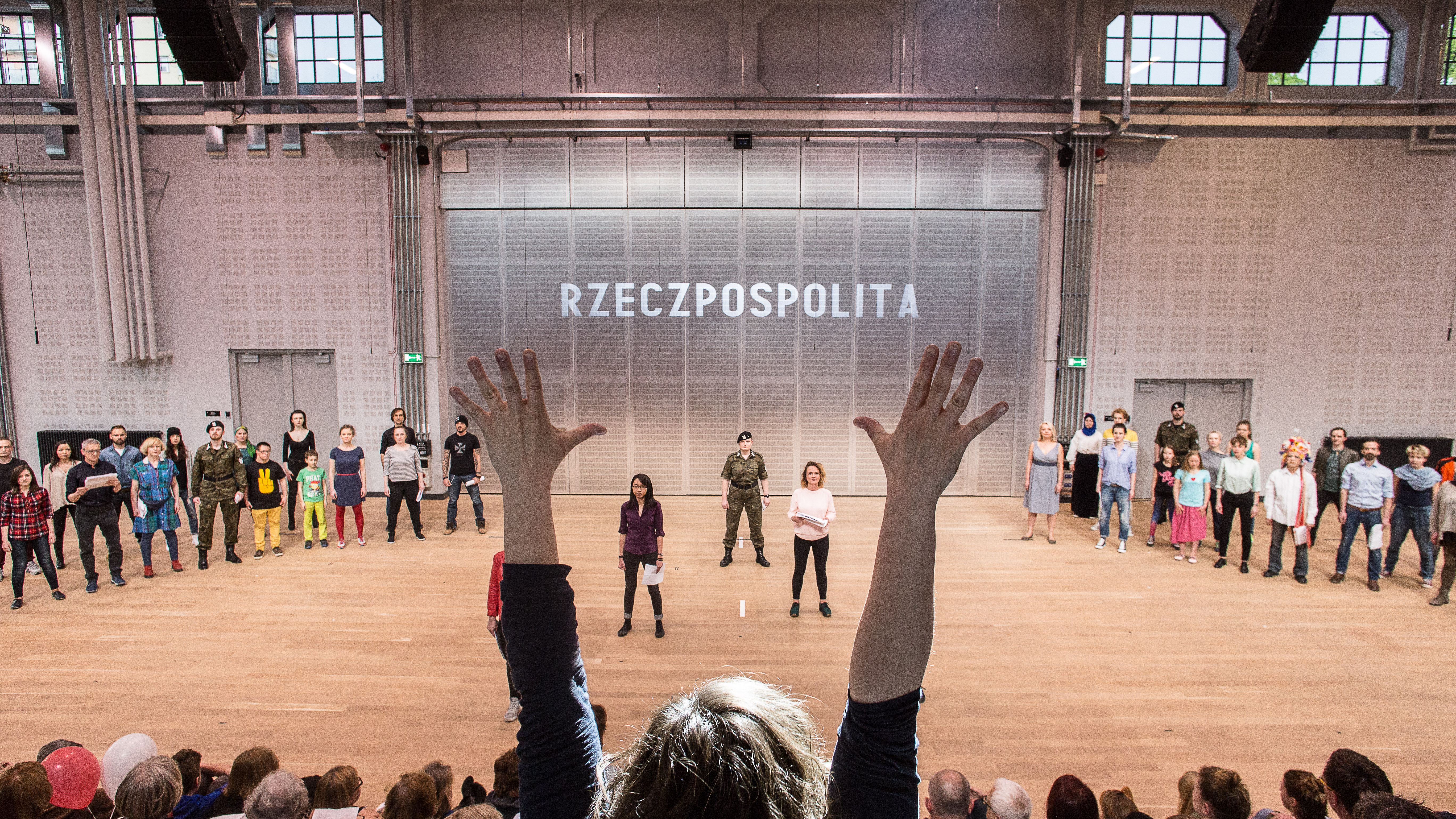 'Constitution for the Chorus of Poles', devised, directed and written by Marta Górnicka, premiere: 1.05.2016, Nowy Theatre in Warsaw. Photo: Robert Rumas.