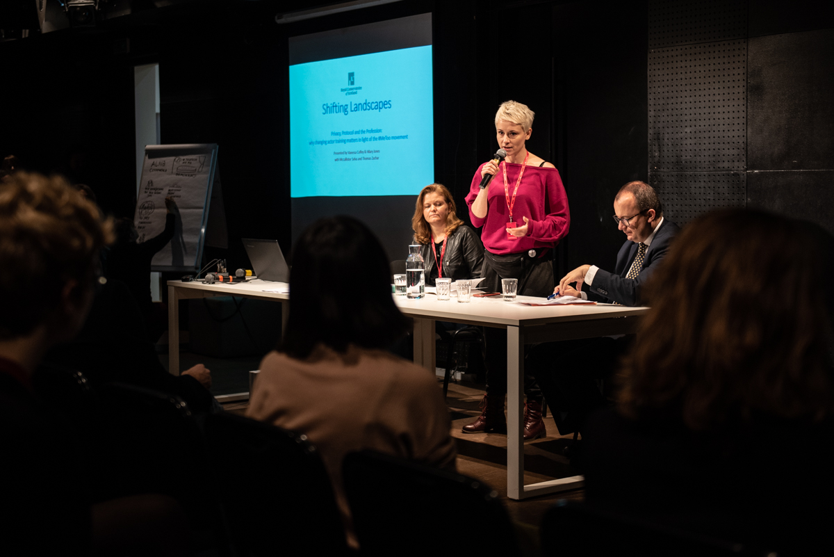 From the left: Agata Adamiecka-Sitek, Alina Czyżewska and Adam Bodnar during the 'Change - now!' conference, Teatr Ochoty, Warsaw, 7 October 2019, photo: Marta Ankiersztejn